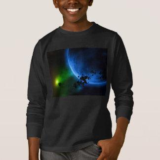 外国の青い惑星 Tシャツ