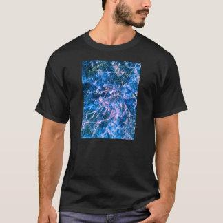 外国の青い菌のサイファイのTシャツ Tシャツ