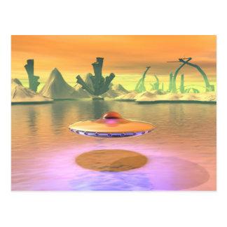 外国湖UFOは郵便はがきをはずします ポストカード