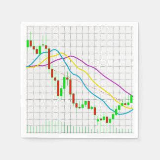 外国為替の市場 スタンダードカクテルナプキン