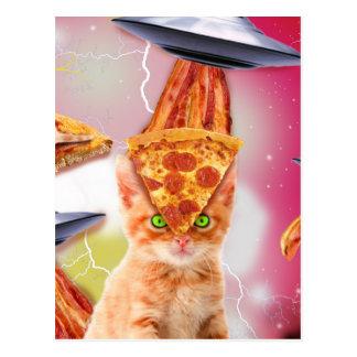 外国猫およびufos ポストカード