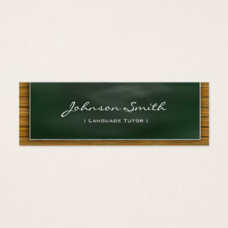 外国語の個人教師-個人的なクールな黒板 スキニー名刺