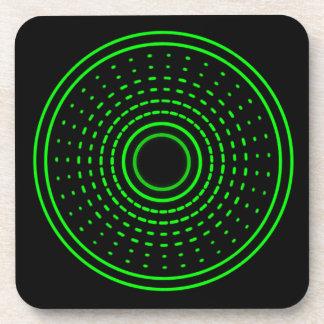 外国警報緑の抽象芸術のガンマの軽いコースター コースター