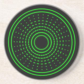 外国警報緑の抽象芸術のガンマは軽いコースターを導きました コースター