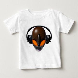 外国DJの音楽愛好者-ハ虫類のオレンジ/ブラウン ベビーTシャツ