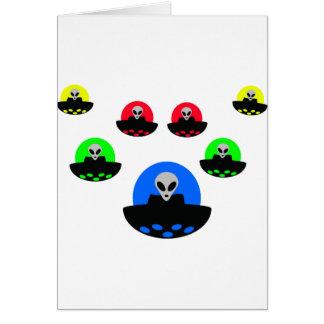 外国UFOの侵入 グリーティングカード