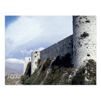 外壁、Krak desの勲爵士、シリア ポストカード