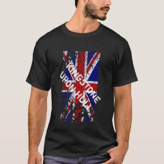 外皮にキングストン + 英国国旗の旗 Tシャツ