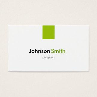 外科医-シンプルで真新しい緑 名刺