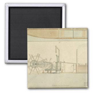 外輪、描かれる機械類の透視図 マグネット