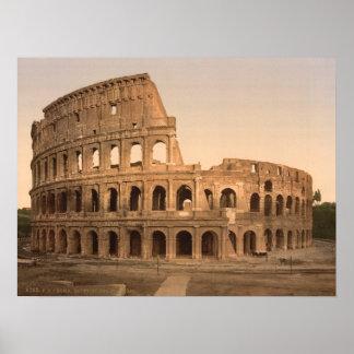 外部のColosseum、ローマ、イタリアの記録保管プリント ポスター