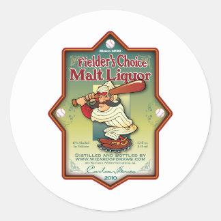 外野手の上等のモルトアルコール飲料 ラウンドシール