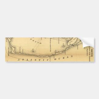 外銀行(1862年)のヴィンテージの地図 バンパーステッカー