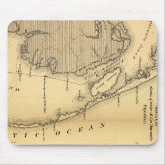 外銀行(1862年)のヴィンテージの地図 マウスパッド