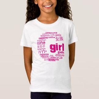 多くのの普遍的な女の子言語イニシャルのTシャツ Tシャツ