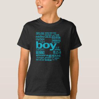 多くのの普遍的な男の子言語イニシャルの子供のTシャツ Tシャツ