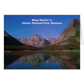 多くのグレーシャー国立公園、モンタナの氷河 カード