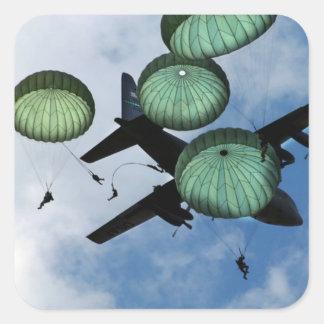 多くのジャンプの代表団、パラシュート、米国陸軍 スクエアシール