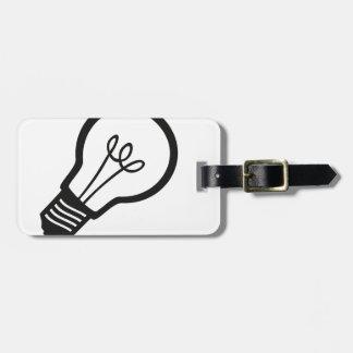 多くの創造的なアイディアのためのシンプルで黒い電球 ラゲッジタグ