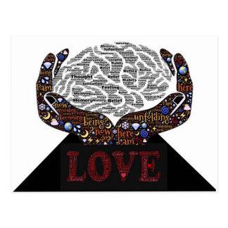 多くの単語で記述されている愛 ポストカード