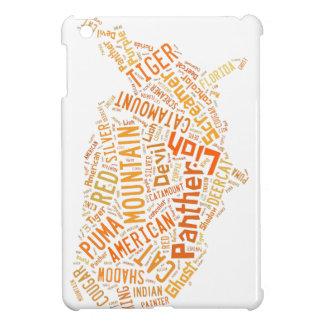多くの名前のipadの小型場合のmountianライオンの猫 iPad mini case