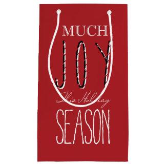 多くの喜びこの休暇の季節-お祝いのギフトバッグ スモールペーパーバッグ