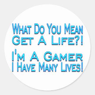 多くの生命ゲーマー ラウンドシール