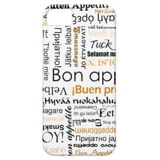 多くの異なった言語のオレンジ糖菓のappetit iPhone SE/5/5s ケース