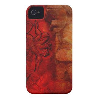 多くの腕の赤いグランジのヒンズー教の神Ganesh Case-Mate iPhone 4 ケース