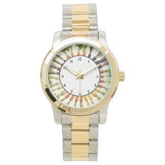 多くの色のにんじん 腕時計
