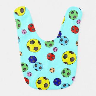 多くの色のサッカーボール ベビービブ