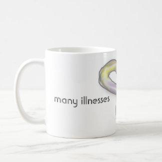多くの見えない病気の認識度のリボンのマグ コーヒーマグカップ
