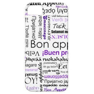 多くの言語の紫色の糖菓のappetit iPhone SE/5/5s ケース