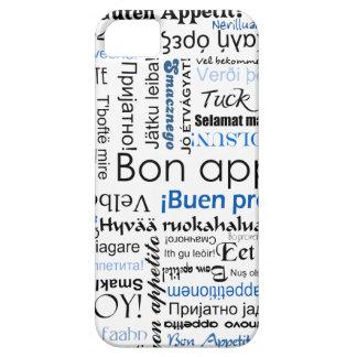 多くの言語の青い糖菓のappetit iPhone SE/5/5s ケース