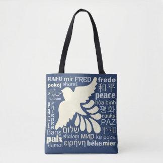 多くの言語バッグの平和 トートバッグ