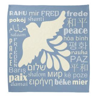多くの言語バンダナの平和 バンダナ