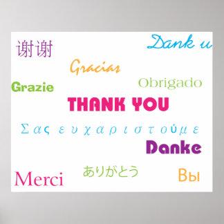 多くの言語ポスターのありがとう ポスター