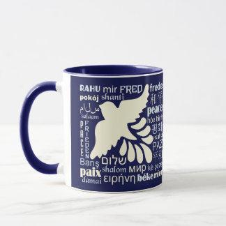 多くの言語名前をカスタムするのマグの平和 マグカップ