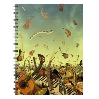 多くの誘惑のノートの楽器 ノートブック