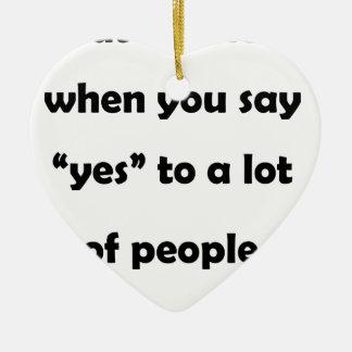 """多くのpeople.pに""""yes""""を言うその時 セラミックオーナメント"""