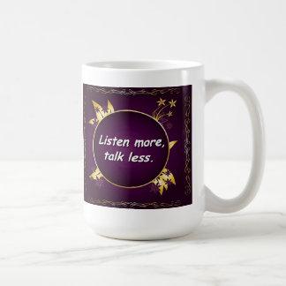 多くをの話より少なく聞いて下さい。 ロシアのな諺コーヒーマグ コーヒーマグカップ