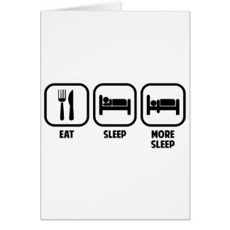 、多く睡眠食べて下さい、眠らせて下さい カード