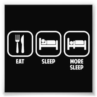 、多く睡眠食べて下さい、眠らせて下さい フォトプリント