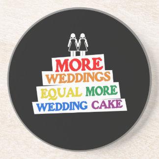 多く|結婚式|同輩|結婚|ケーキ|レズビアン 飲み物用コースター
