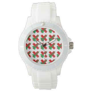 多分カチカチおよび十字パターン 腕時計