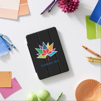 多彩でおよび赤いカナダ150の役人のロゴ- iPad MINIカバー