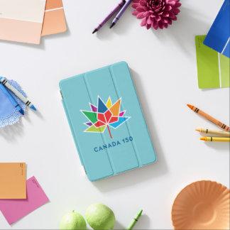 多彩でおよび青カナダ150の役人のロゴ- iPad MINIカバー