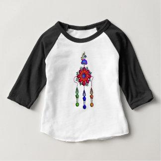 多彩でぶら下がったな花 ベビーTシャツ