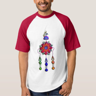 多彩でぶら下がったな花 Tシャツ