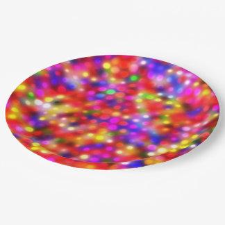 多彩で明るい点(i) ペーパープレート